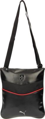 Puma Men, Women Black PU Sling Bag