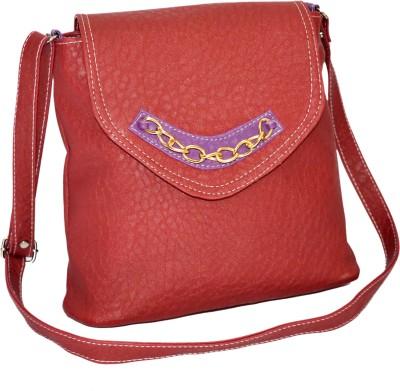 Minar Girls Maroon PU Sling Bag
