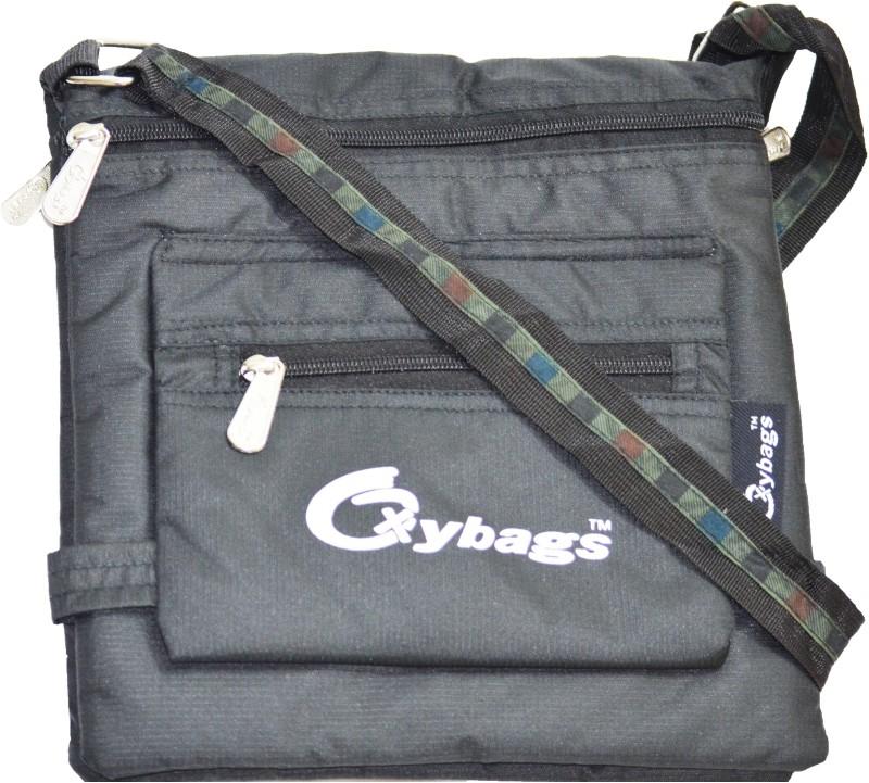 JG Shoppe Women Casual Black Nylon Sling Bag Alpha