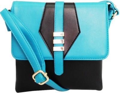 Falah Bag Works Girls Green PU Sling Bag