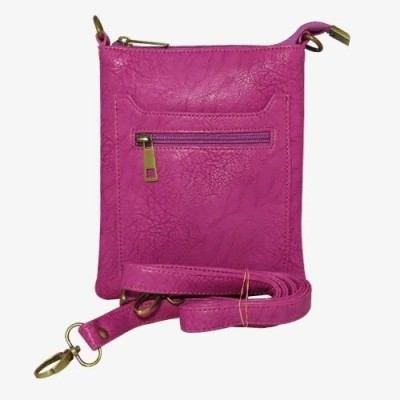 Chimera Leather Men, Women Casual, Formal Pink Leatherette Sling Bag