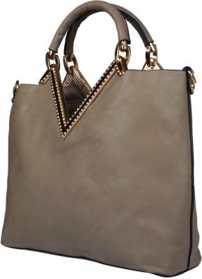 Fiza Women Brown Leatherette Shoulder Bag