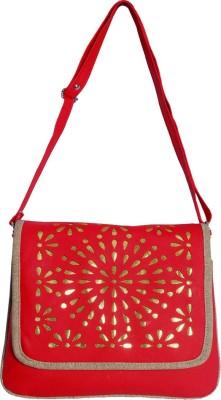 Kshipra Fashion Girls, Women Red, Brown Leatherette Sling Bag