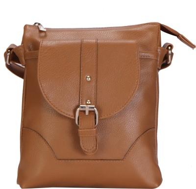 Lychee Bags Women Brown PU Sling Bag
