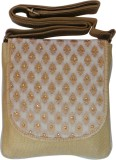 Bhamini Women Gold Brocade Sling Bag