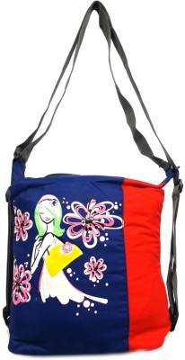 Belladona Girls Evening/Party Blue, Red PU Sling Bag