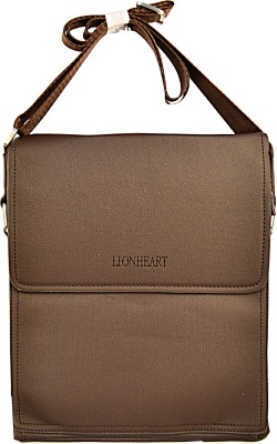 Lion Heart Men Casual Brown PU Sling Bag