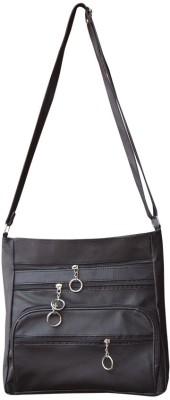 Bueva Women Black PU Sling Bag