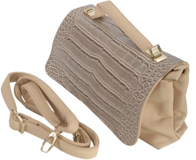 Knighthood Women Beige PU Sling Bag