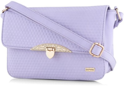 Daphne Women Casual Purple PU Sling Bag