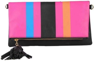 Zoe Makhoa Girls, Women Pink Leatherette Sling Bag