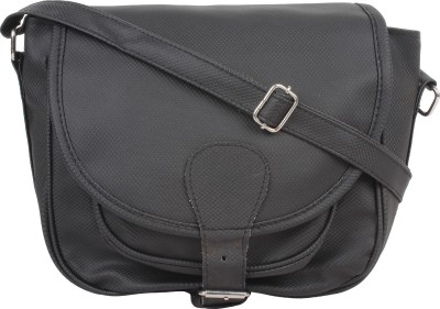 Cottage Accessories Women Black PU Sling Bag