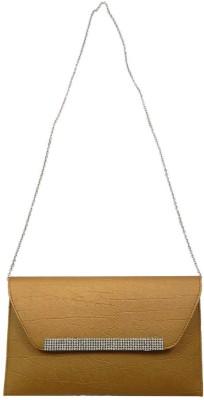 mezzo99 Girls, Women Gold PU Sling Bag