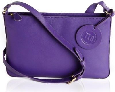 TLB Girls Casual Purple Genuine Leather Sling Bag