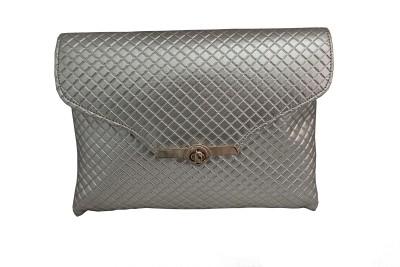 ALTG Women, Girls Silver Leatherette Sling Bag