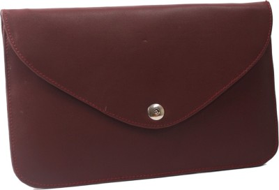 Pochette Women, Girls Casual, Formal Maroon PU Sling Bag