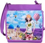 Super Drool Women Purple PU Sling Bag