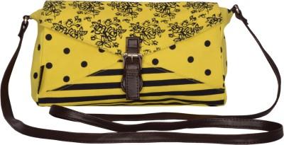 Kanvas Katha Women, Girls Yellow Canvas Sling Bag