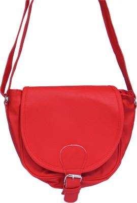 zasmina Girls Red PU Sling Bag