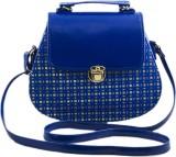 Voaka Women Blue PU Sling Bag