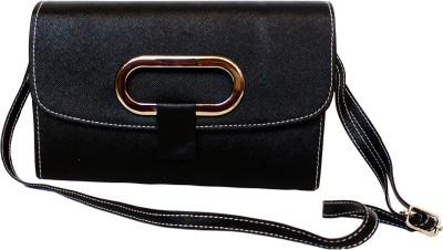 Mxtape Women Black Leatherette Sling Bag