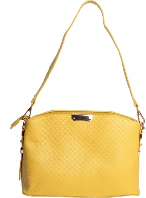 Reedra Women Yellow PU Sling Bag