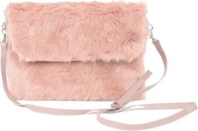 Aliado Women Pink Silk Sling Bag