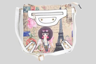 Daks Women Multicolor PU Sling Bag