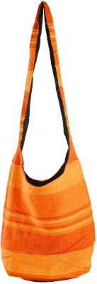 Rajkruti Women, Girls Casual Orange Cotton Sling Bag