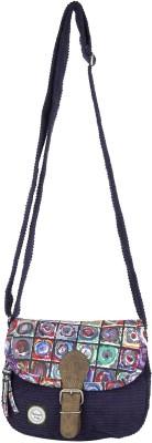 Anekaant Women Blue Canvas Sling Bag