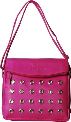 Triveni Women, Girls Pink Rexine Sling Bag