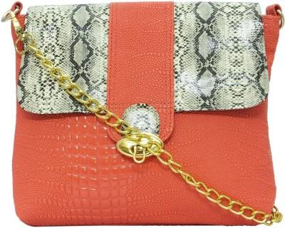 Stylocus Women Casual Orange Genuine Leather Sling Bag