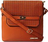 Zoricane Women Orange PU Sling Bag