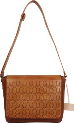 Rub & Style Men Brown Genuine Leather Messenger Bag