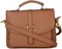global impex Women Brown Genuine Leather Shoulder Bag