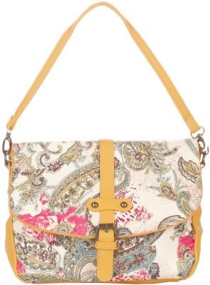Vero Couture Women Yellow PU Sling Bag