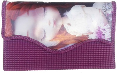 Goldeno Girls Purple PU Sling Bag