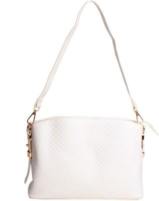 Reedra Women White PU Sling Bag