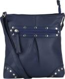 Bling It On Women Blue PU Sling Bag