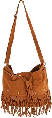 abrazo Girls, Women Tan PU Sling Bag