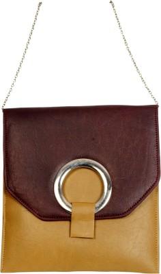 Arkgold Girls Brown PU Sling Bag