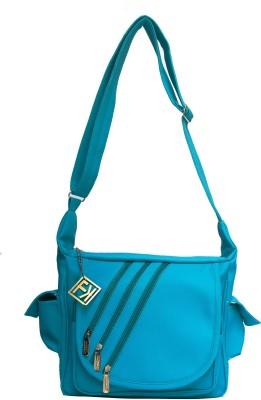 Fashion Knockout Girls, Women Green Leatherette Sling Bag