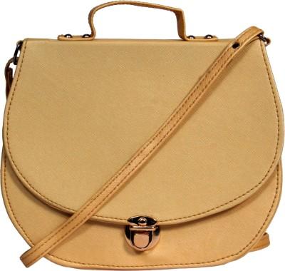 zasmina Girls Gold PU Sling Bag