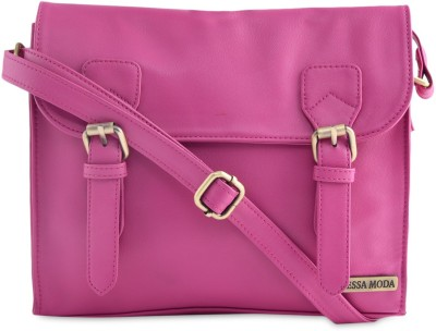 Tessa Moda Women, Girls Pink PU Sling Bag