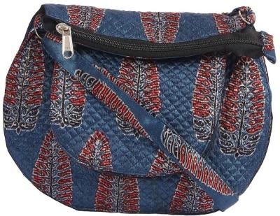 Ethnicshack Women Casual Blue Cotton Sling Bag