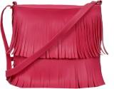 Speed Dot Women Pink Rexine Sling Bag