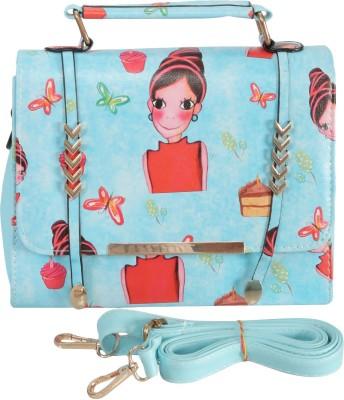 Knighthood Girls Blue PU Sling Bag