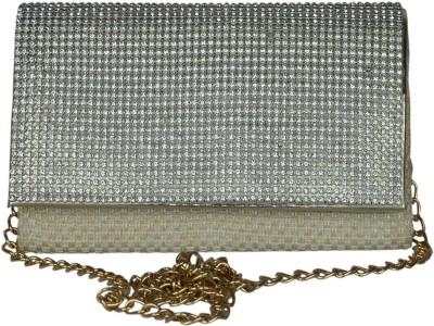 Murcia Women Silver Cotton Sling Bag
