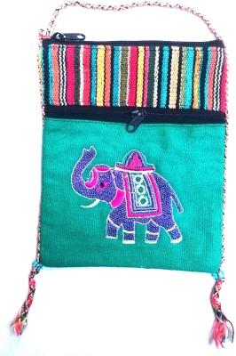 HR Handicrafts Girls Multicolor Canvas Sling Bag