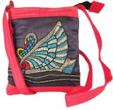 Indha Craft Women Blue Polyester Sling B...